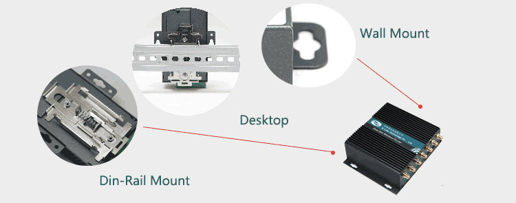 4g router Din-rail wall mount and desktop Installation