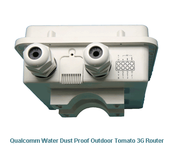 H820QO Qualcomm Water Dust Proof Outdoor Tomato 3G Router